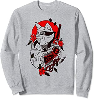 INTERESTPRINT Mens Cartoon Funny Ninja Or Samurai Long Sleeve Hoodie