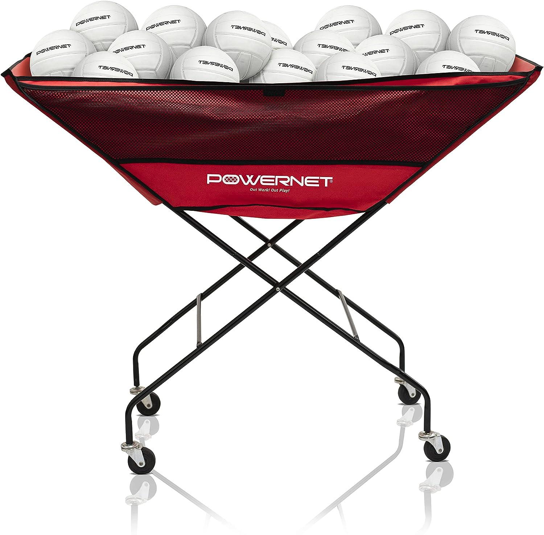 PowerNet Volleyball New York Mall Popular brand Wheeled Cart Ball Portable Hammock
