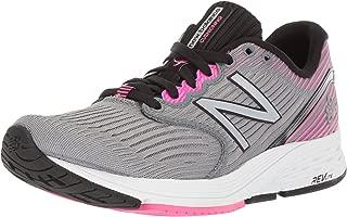 New Balance Women's 890v6 Running Shoe, Grey/Pink, 6 B US