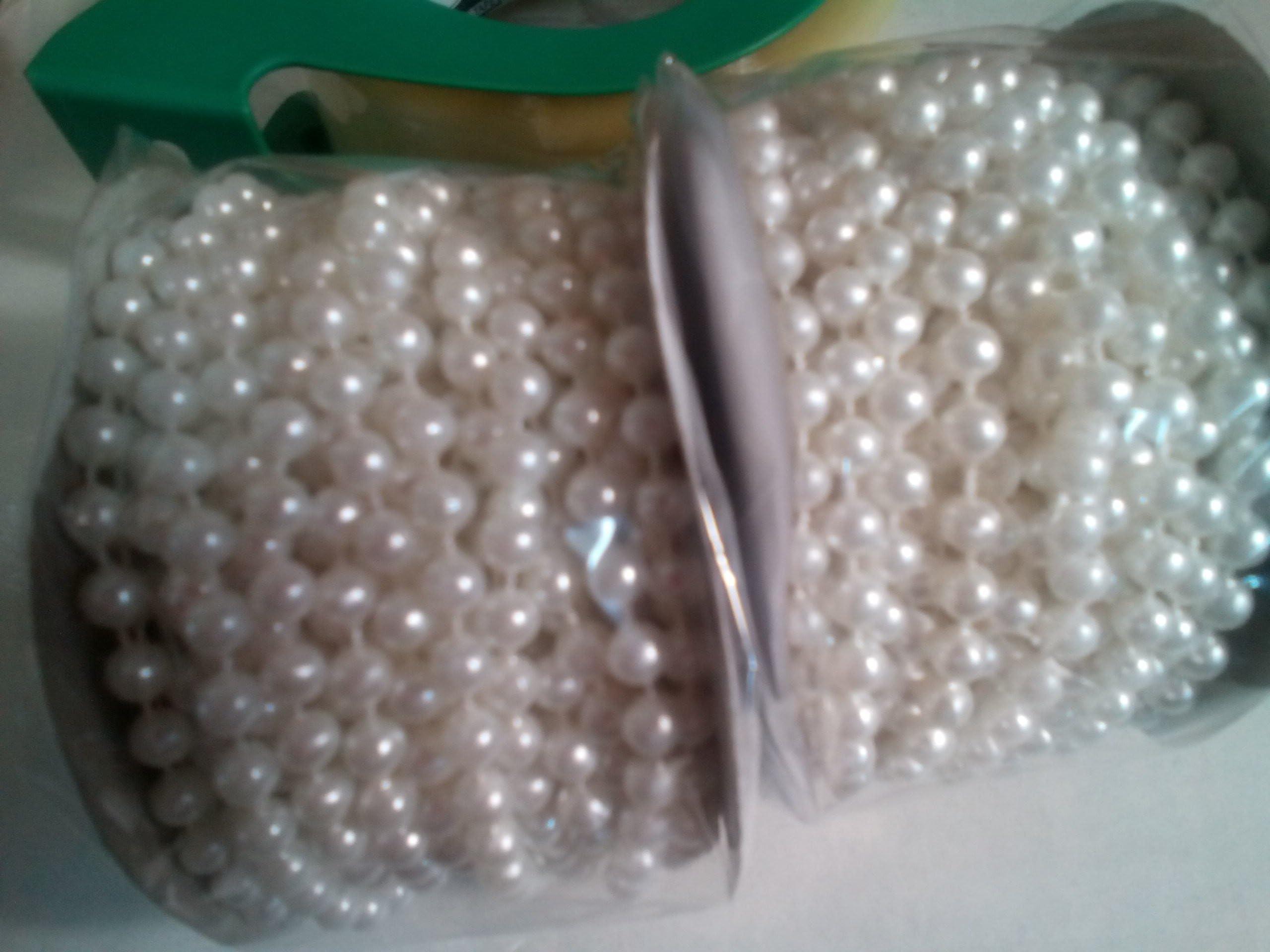 Set of 54 yards Pearl String plastic pearls
