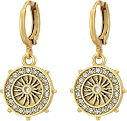 Star Charm Museum Hoop Earrings