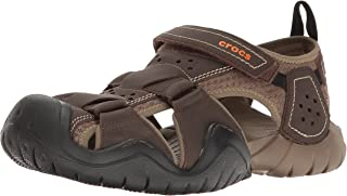 Crocs Men's Swiftwater Leather M Fisherman Sandal