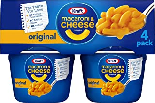 Kraft Easy Mac Original Flavor Macaroni and Cheese (4 Microwavable Cups)
