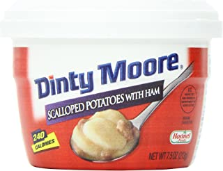 Dinty Moore Scalloped Potatoes with Ham, 7.5-Ounce Microwavable Bowls (Pack of 12)
