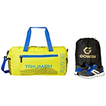 Gowin Nx-2 Grey/Blue Size-6 with Triumph Gym Bag Fusion Pro-88 Yellow/Royal