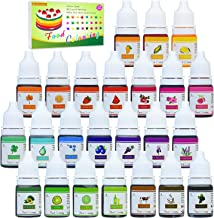 24 Color Food Coloring - Concentrated Liquid Cake Food Coloring Set for Baking, Decorating, Icing and Cooking - Rainbow Food Colors Dye for Slime Making and DIY Crafts - .25 fl. Oz. Bottles