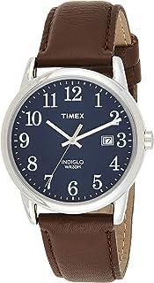 ساعة ايزي ريدر سهلة القراءة للرجال من تايمكس، سوار جلدي مقاس 38 ملم، TW2P75900