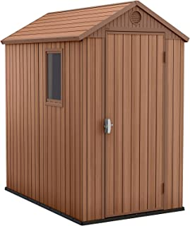 Keter 245957 - Caseta de jardin exterior Darwin, color marrón