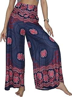 Lofbaz Women's Wide Leg Palazzo Pants Yoga Lounge Hippie Harem Flowy Trousers