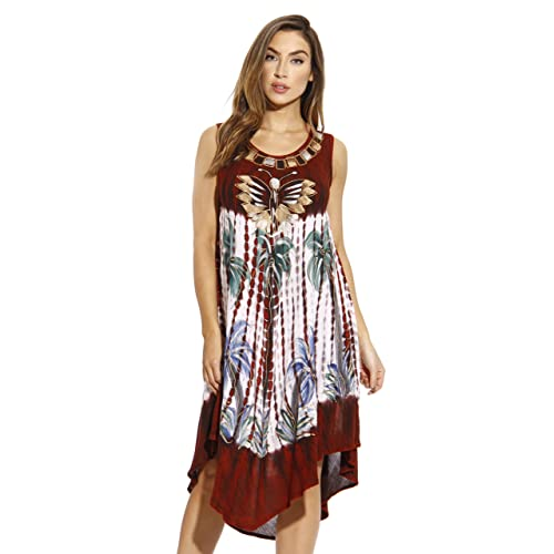 e380b6883a Riviera Sun Summer Dresses Tie Dye Embroidered Beach Swimsuit Cover Up