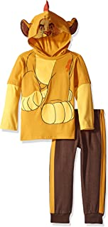 Baby Boys' 2 Piece Kion of the Lion Guard Costume Hoodie with Mesh Mask and Fleece Pant