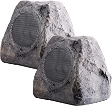 """OSD Audio 5.25"""" 100W Outdoor Rock Speaker Pair - Weather Resistant Stereo – RX550Slate"""