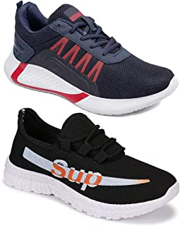 Camfoot Men's (9164-9311) Casual Sports Running Shoes (Set of 2 Pair)