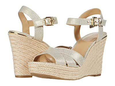 MICHAEL Michael Kors Suzette Wedge (Pale Gold) Women