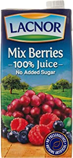 Lacnor Essentials Sugar Free Mix Berries Juice 12 x 1 Liter