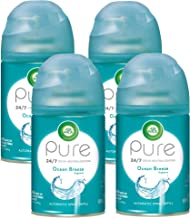 Air Wick Pure Freshmatic 4 Refills Automatic Spray, Ocean Breeze, 4ct, Air Freshener, Essential Oil, Odor Neutralization, Packaging May Vary