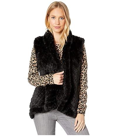 Love Token Ali Faux Fur Vest (Black) Women