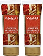 Vaadi Herbals Chandan Kesar Haldi Fairness Face Pack Herbal Face Pack All Natural Paraben Free Sulfate Free Suitable For Both Men And Women Good For All Skin Types Oily, Glowing, Dry