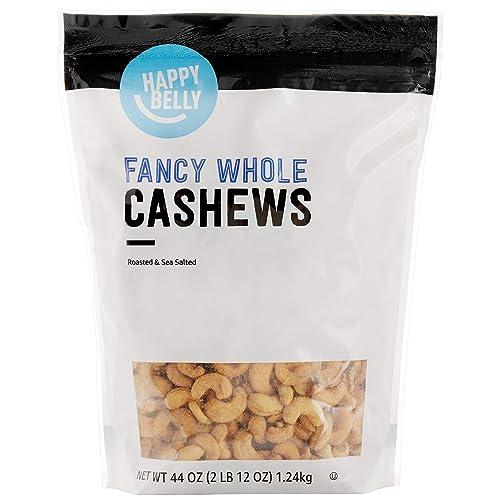 Amazon Brand - Happy Belly Fancy Whole Cashews, 44 Ounce