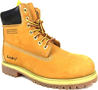 LABO Premium Waterproof Leather Boots Rubber Sole by CITISHOESNYC
