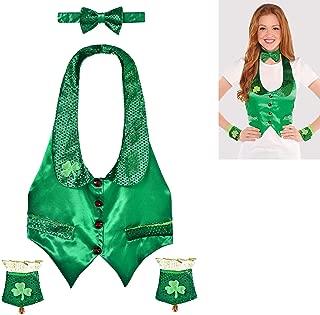 amscan St. Patrick's Day Green Satin Leprechaun Kit | Party Costume