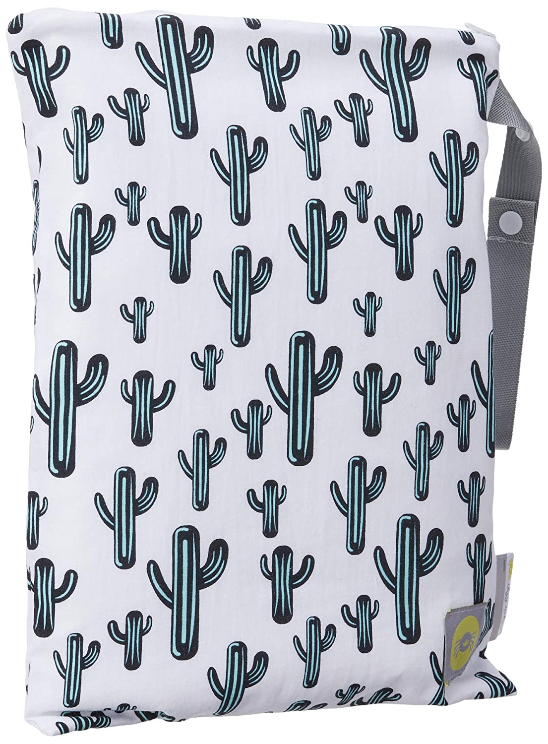 """Itzy Ritzy Sealed Wet Bag with Adjustable Handle – Washable and Reusable Wet Bag with Water Resistant Lining Ideal for Swimwear, Diapers, Gym Clothes & Toiletries; Measures 11"""" x 14"""", Cactus Crew"""