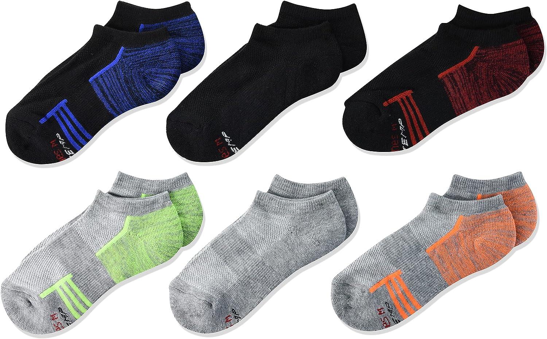 Hanes Boys' Performance X-Temp 6-Pair No Show Socks