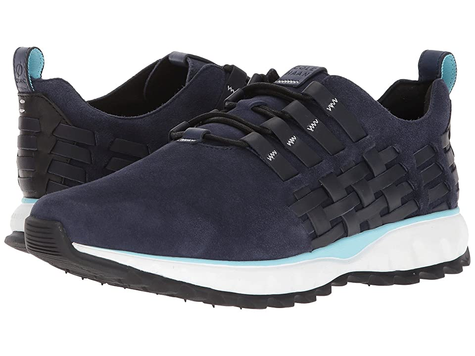 Cole Haan Grand Explore All-Terrain Woven Ox (Marine Blue Nubuck/Bluefish/Optic White/Black) Men