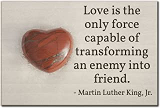 Mundus Souvenirs Love is the only force capable of. quote by Martin Luther King, Jr. printed on wooden plaque - Size: 6