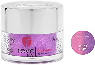 Revel Nail Dip Powder   for Manicures   Nail Polish Alternative   Non-Toxic & Odor-Free   Crack & Chip Resistant   Can Last Up to 8 Weeks   2 oz Jar   Mood Changing (Libra, 2oz)