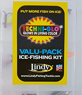 Lindy Techni-Glo Value Pack Ice Fishing Kits (6-Piece)