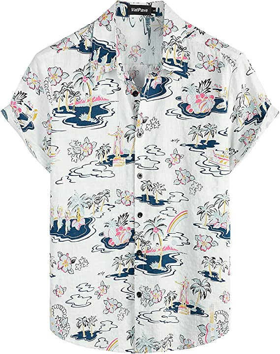 90s Outfits for Guys | Trendy, Party, Cool, Casaul VATPAVE Mens Floral Hawaiian Shirts Short Sleeve Button Down Beach Shirts  AT vintagedancer.com