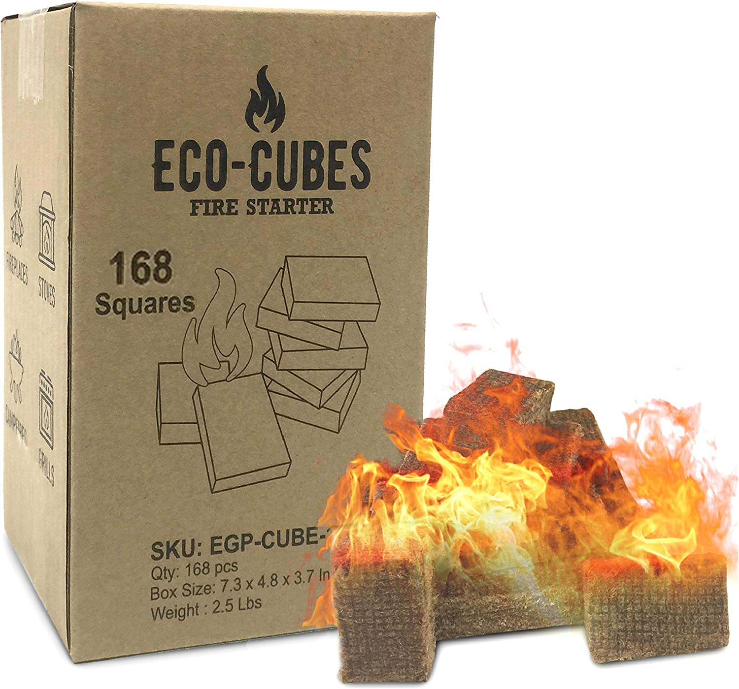 Eco 2021 autumn and winter new Cubes Fire Max 85% OFF Starter Squares – for Starters Great Ch