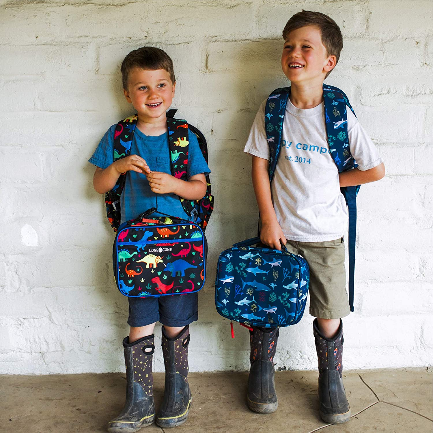 Elementary /& Toddlers Sizes for Preschool LONECONE Backpacks for Boys /& Girls