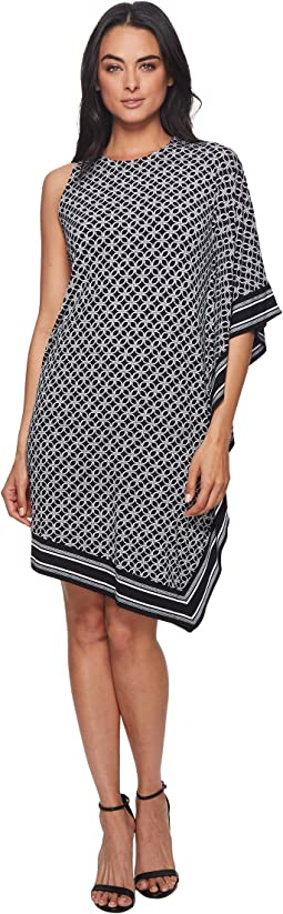 Asymmetrical  Rope Border Dress