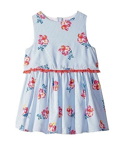 Joules Kids Imogen Dress (Toddler/Little Kids) (Blue Floral Stripe) Girl