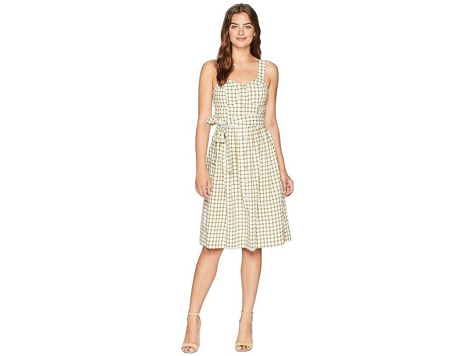 J.O.A. Button Up Midi Dress (Plaid) Women