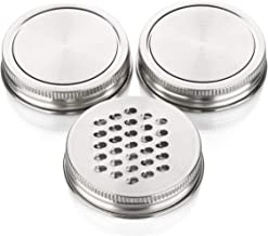 Mason Jar Grating Set by Organic Family Product Stainless Steel Shredder and 2 Replacement Canning Lids, Grate Cheese or V...