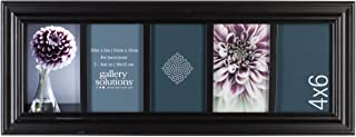 Gallery Solutions Traditional 5 Opening Collage Picture Frame, Displays Five 4x6 Images, Black
