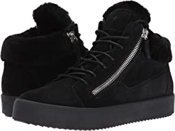 Giuseppe Zanotti - May London Mid Top Shearling Sneaker