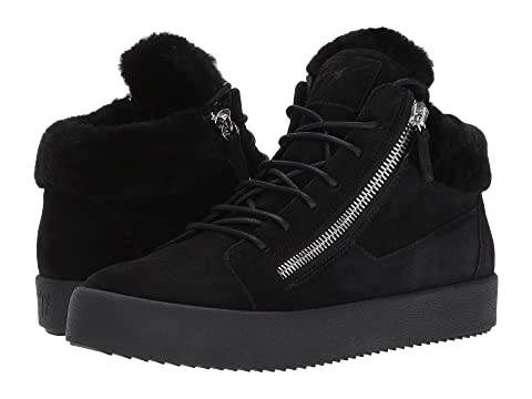 Giuseppe Zanotti May London Mid Top Shearling Sneaker