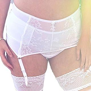 Viva Voluptuous White Lace Wide Plus Size Suspender Belt Garter Belt L - 6XL