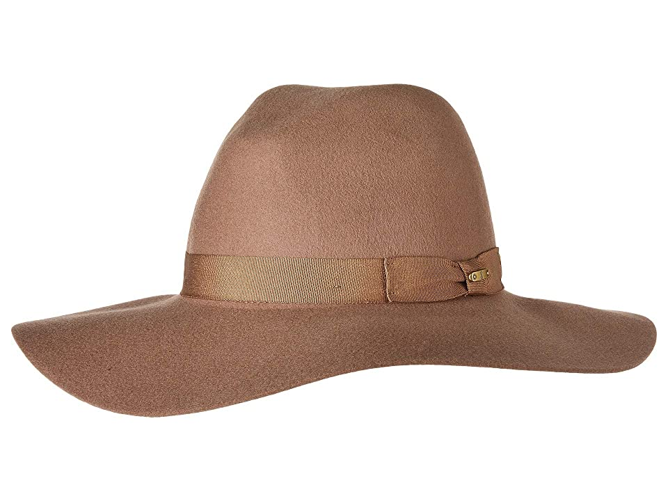 1940s Style Hats San Diego Hat Company WFH8049 Wide Flat Brim Fedora Camel Fedora Hats $82.50 AT vintagedancer.com