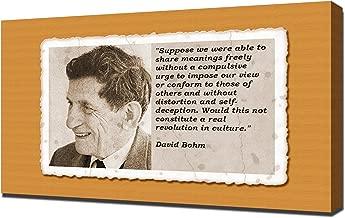 David Bohm Quotes 3 - Canvas Art Print