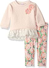 Youngland Baby Girls' Textured Knit Tunic and Floral Legging