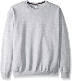 Fruit of the Loom Men's Fleece Crew Sweatshirt, Athletic Heather, XX-Large