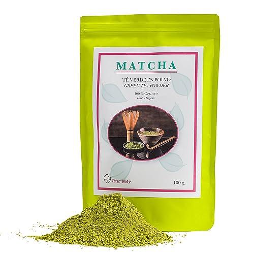 Té verde Matcha Tesmakey 100g. Orgánico 100%. Potente antioxidante, contribuye a adelgazar