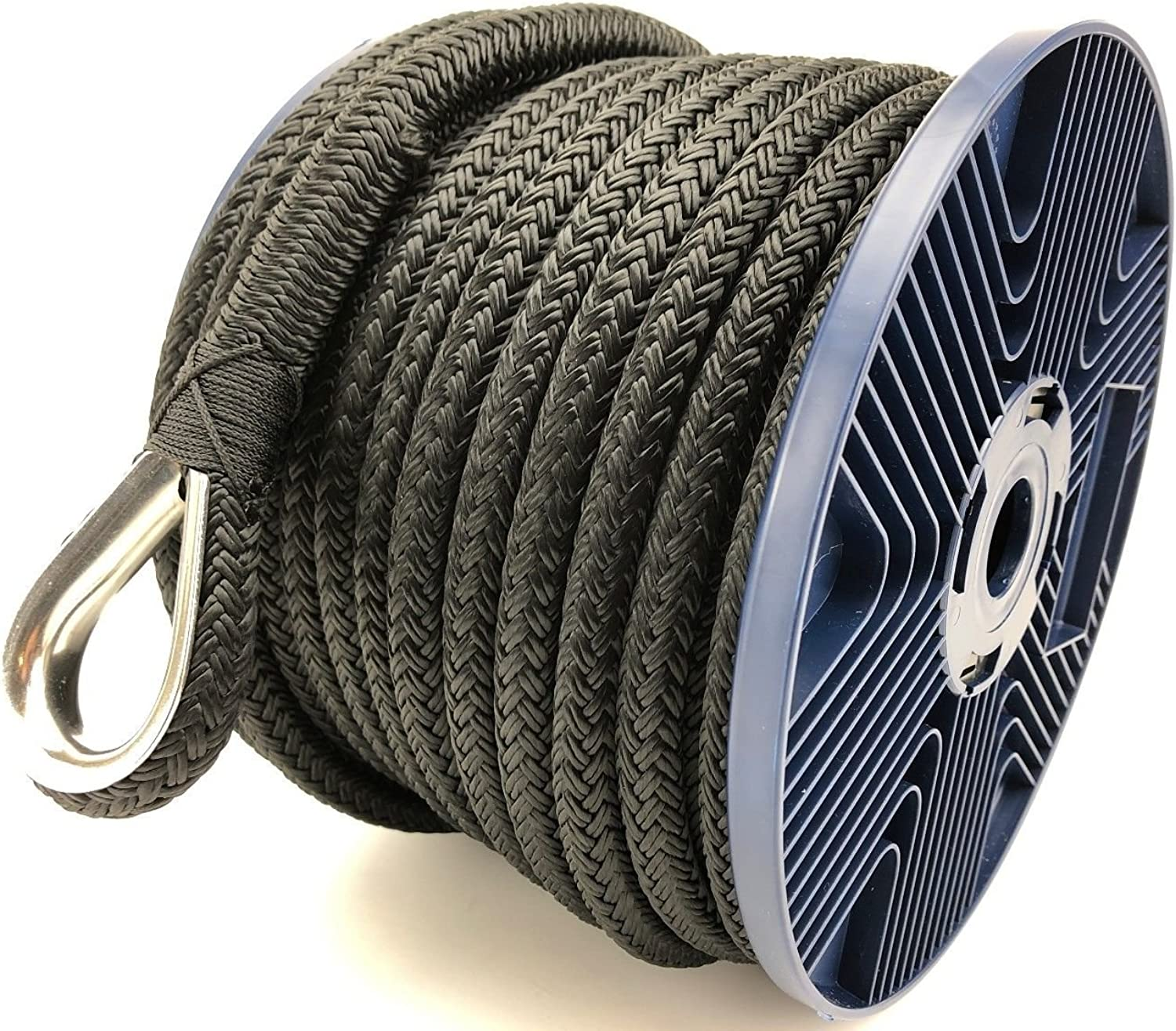 RopeServices UK 12 mm Schwarz Double Braid Polyester Pre-Spliced Anker Seil X 75 Meter B07F2HY59Z  Geschäft