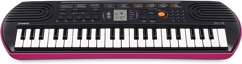 Casio Mini Keyboard, Black - SA-78