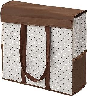 山善(YAMAZEN) 収納ボックス 衣類ハンガー用 ドットアイボリー YTC-HGBLB